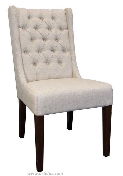 leather dining room kitchen chairs tufted wing back