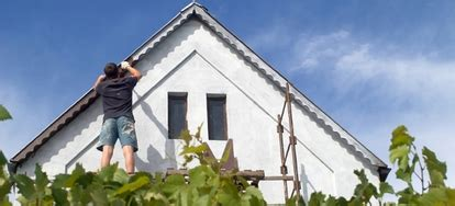 Paint, varnishes and thinners are highly flammable. Painting Eaves and Overhangs   DoItYourself.com