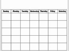 Blank Calendar Template 2018 – Printable Calendar & Template