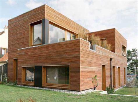 maison cube en bois bardage bois maison mzaol