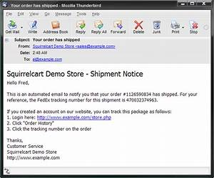 template guide ship notification emails With it notification email template