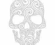 Crane Mexicain Dessin : coloriage t te de mort mexicaine fille dessin gratuit imprimer ~ Melissatoandfro.com Idées de Décoration