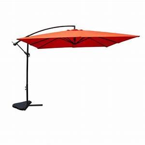 Parasol Déporté Carré : parasol d port carr soli 300cm terracotta ~ Mglfilm.com Idées de Décoration