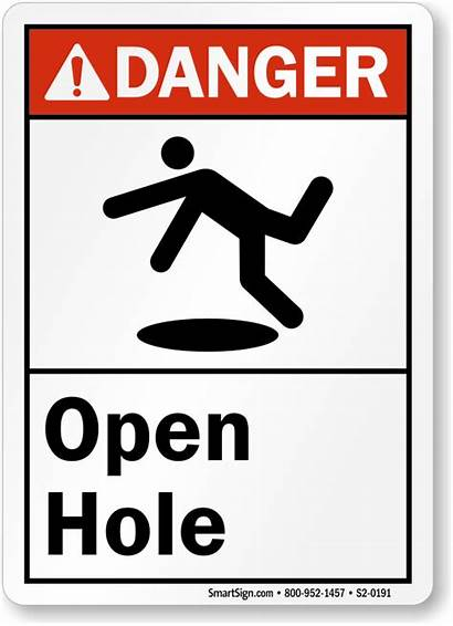 Hole Open Sign Danger Ansi Signs Pit