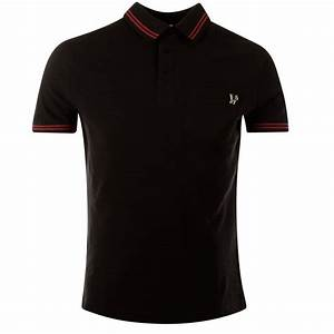 VERSACE JEANS BLACK & RED POLO SHIRT - Men from ...