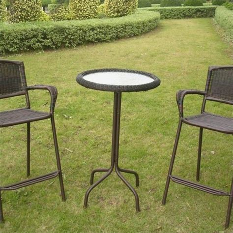 outdoor glass patio table glass top outdoor patio pub table 3187 t xx