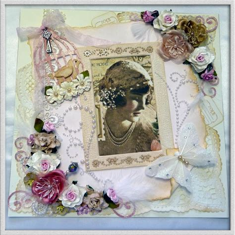 shabby chic scrapbook things i love shabby chic scrapbook page
