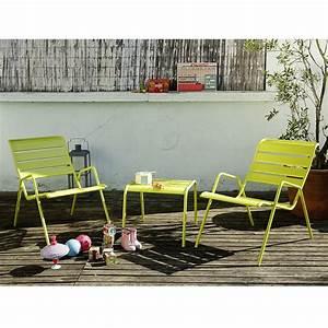 salon de jardin fermob monceau table basse 2 fauteuils With salon de jardin fermob