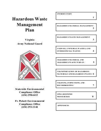 Medical Waste Management Plan Checklist California