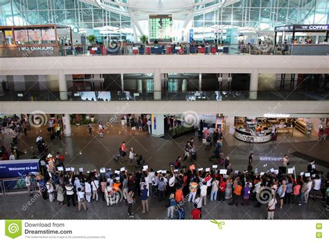 bali airport arrivals hall editorial photo image