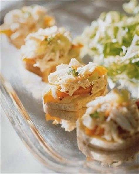 dip canapes crab salad canapes recipe appetizers