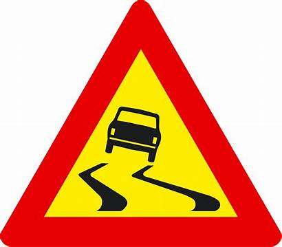 Road Sign Traffic Signs Slippery Clipart Iceland