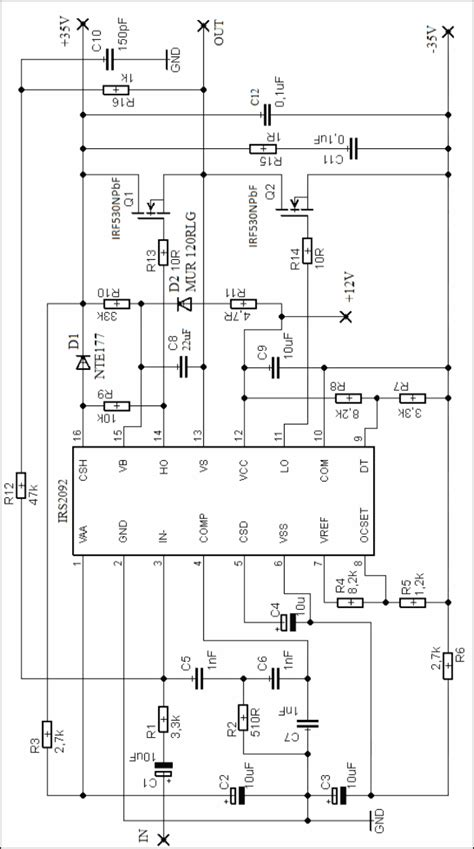 Irs Class Amplifier Circuit Tone Controlled