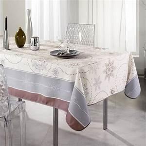 Nappe De Table Rectangulaire : nappe rectangulaire l240 cm astree beige linge de table eminza ~ Teatrodelosmanantiales.com Idées de Décoration