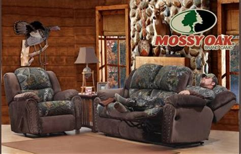 littleton camo reclining sofa  rocker recliner  mossy oak pc set   white