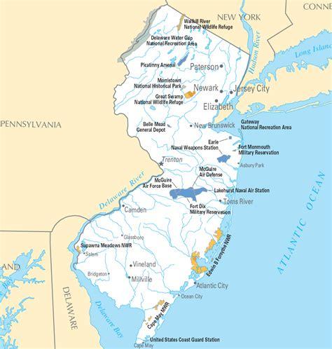 Carte Détaillée New Jersey