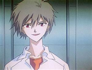Image Kaworu talking to Rei ep 24