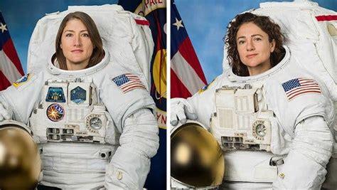 nasa astronauts complete    female spacewalk