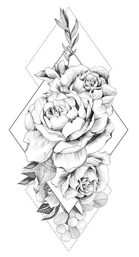 Image result for bird peony vintage black & white - MyKingList.com | Tattoos, Tattoo designs