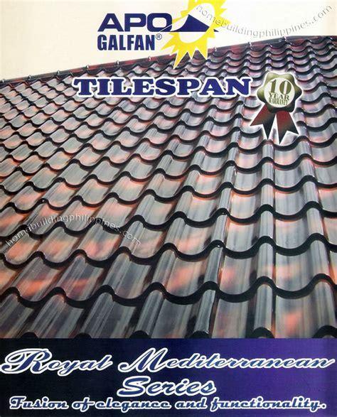 Apo Galfan Tilespan Mediterranean Series Steel Roofing