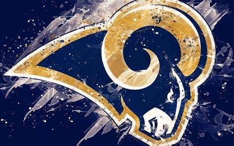 Download wallpapers Los Angeles Rams, 4k, logo, grunge art ...