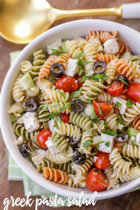 tri color pasta tri colored pasta with feta cheese