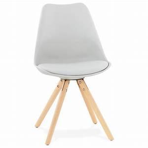 Chaise Moderne Design : chaise moderne style scandinave nordica gris ~ Teatrodelosmanantiales.com Idées de Décoration