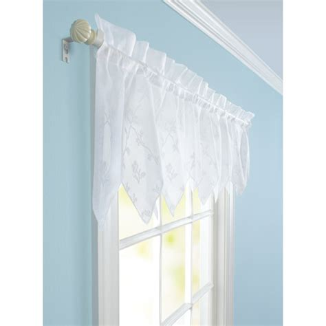 Walmart Lace Kitchen Curtains by Better Homes And Gardens Lace Valance White Walmart