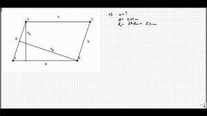 Parallelogramm Flächeninhalt Berechnen : fehlende gr en youtube ~ Themetempest.com Abrechnung