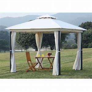 Toile Pour Tonnelle 3x3 : tonnelle st tropez polyester ecru achat vente ~ Melissatoandfro.com Idées de Décoration