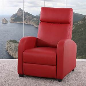 Relaxsessel Rot Leder : fernsehsessel relaxsessel liege sessel denver kunstleder rot ~ Markanthonyermac.com Haus und Dekorationen