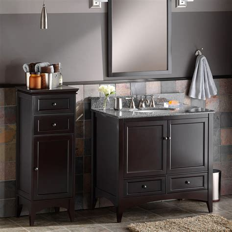 Espresso Bathroom Cabinets by Foremost Berkshire Espresso Bathroom Floor Cabinet Floor