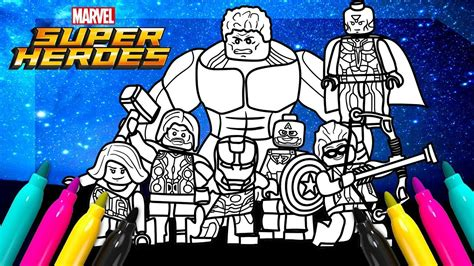 superheroes avengers coloring book lego coloring for