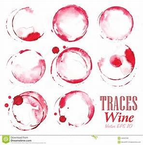 Enlever Tache De Vin Rouge : l 39 ensemble trace des marques de vin rouge illustration de ~ Melissatoandfro.com Idées de Décoration