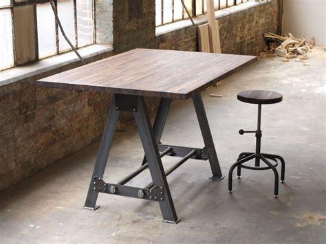 hand  industrial  frame table kitchen island bar