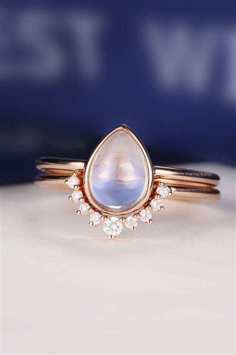 moonstone engagement rings ideas  pinterest