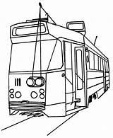 Tram Drawing Getdrawings Trams sketch template