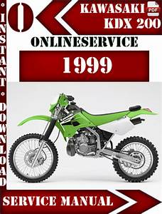 Kawasaki Kdx 200 1999 Digital Service Repair Manual