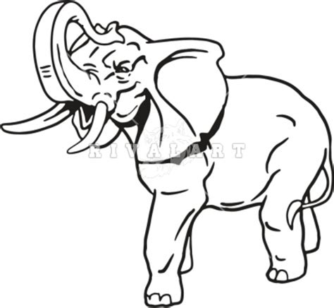 elephant clipart outline trunk up elephant trunk up clip
