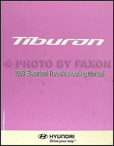 hayes car manuals 2008 hyundai tiburon electronic throttle control 2008 hyundai tiburon electrical troubleshooting manual original