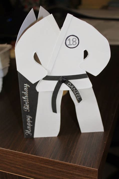 karate birthday card template judo suit card template cards any occasion