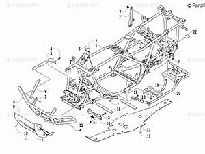 Arctic Cat Atv 2014 Oem Parts Diagram For Frame And