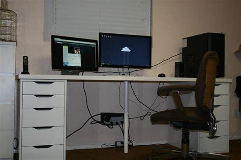 Ikea Linnmon Corner Desk Setup by Ikea Linnmon Desk With Alex Drawers Hostgarcia