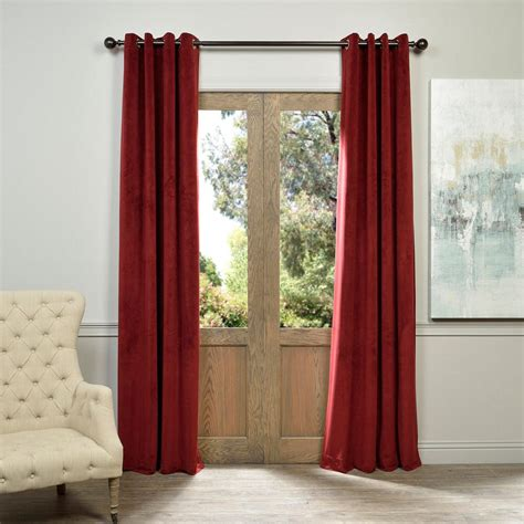 Burgundy Velvet Blackout Curtains by Exclusive Fabrics Furnishings Signature Burgundy