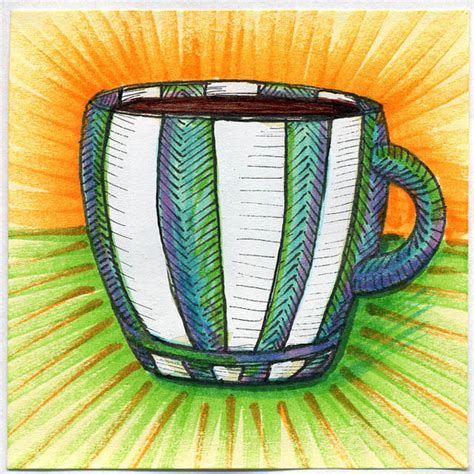 The coffee inside the cup is a bit wonky, but overall the form is working ok for me. 50 Beautiful Coffee Mug Illustration | Design | Graphic Design Junction