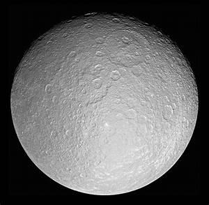 Saturn's moon Rhea | Anne's Astronomy News