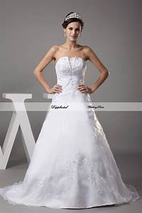 wholesale wedding dress satin a line embroidery beading With wedding dress wholesale