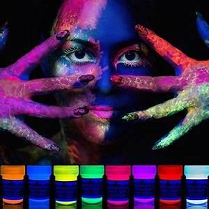 Farbe Die Im Dunkeln Leuchtet Ohne Schwarzlicht : bunte einhorn schminke regenbogen farben schminksets ~ Orissabook.com Haus und Dekorationen
