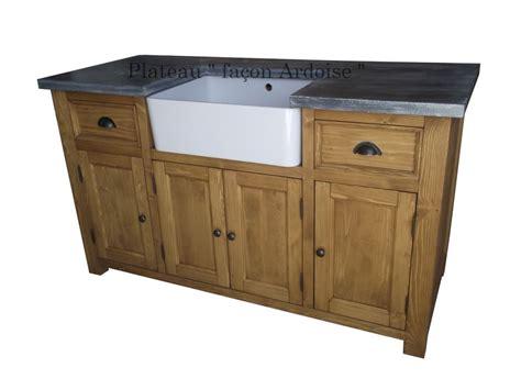 meuble avec evier cuisine meuble sous evier 4 portes en pin massif