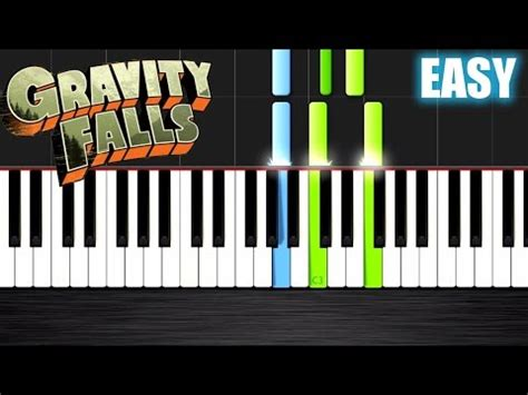 gravity falls theme easy piano tutorial  plutax synthesia youtube